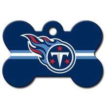 Tennessee Titans Engravable Pet I.D. Tag - Bone