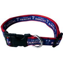 Texas Rangers Officially Licensed Ribbon Dog Collar