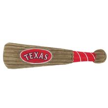 Texas Rangers Plush Baseball Bat Dog Toy
