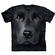 Black Lab Face - Human T-Shirt by The Mountain