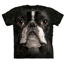 Boston Terrier Face - Human T-Shirt by The Mountain
