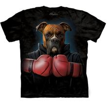 Boxer Rocky - Human T-Shirt by The Mountain