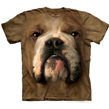 Bulldog Face - Human T-Shirt by The Mountain
