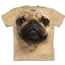 Pug Face - Human T-Shirt by The Mountain