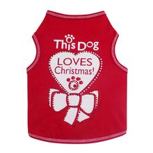 This Dog Loves Christmas Dog Tank - Red