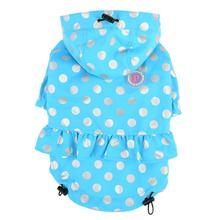 Throdora Hooded Dog Raincoat by Pinkaholic - Blue