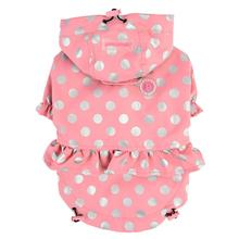 Throdora Hooded Dog Raincoat by Pinkaholic - Pink