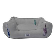 Thunderbird Bumper Dog Bed by Salvage Maria - Grey