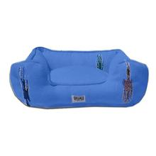 Thunderbird Bumper Dog Bed by Salvage Maria - Blue