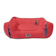 Thunderbird Bumper Dog Bed by Salvage Maria - Red