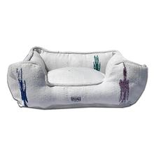 Thunderbird Bumper Dog Bed by Salvage Maria - White
