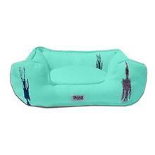 Thunderbird Bumper Dog Bed by Salvage Maria - Teal