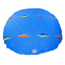 Thunderbird Circulo Dog Bed by Salvage Maria - Blue
