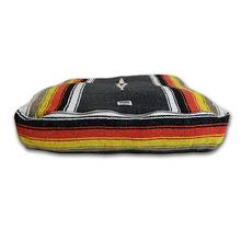 Striped Rectangulo Dog Bed by Salvage Maria - Black and Orange