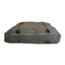 Thunderbird Rectangulo Dog Bed by Salvage Maria - Grey