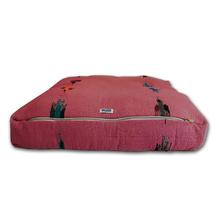 Thunderbird Rectangulo Dog Bed by Salvage Maria - Pink