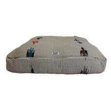 Thunderbird Rectangulo Dog Bed by Salvage Maria - Tan
