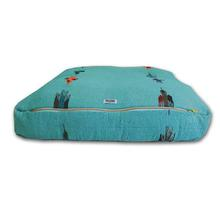 Thunderbird Rectangulo Dog Bed by Salvage Maria - Teal