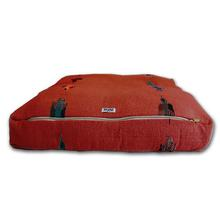 Thunderbird Rectangulo Dog Bed by Salvage Maria - Red