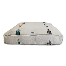 Thunderbird Rectangulo Dog Bed by Salvage Maria - White