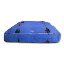 Thunderbird Rectangulo Dog Bed by Salvage Maria - Blue