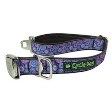 Tie Dye Metal Latch Dog Collar by Cycle Dog - Purple Blue