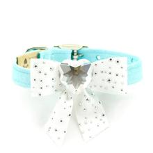 Tiffi's Gift Luxury Dog Collar by Susan Lanci - Tiffi Blue