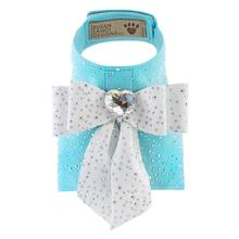Tiffi's Gift Bailey Dog Harness with Silver Stardust by Susan Lanci - Tiffi Blue