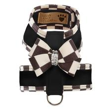 Tinkie Dog Harness with Windsor Nouveau Bow & Trim by Susan Lanci - Black
