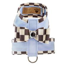 Tinkie Dog Harness with Windsor Big Bow & Trim by Susan Lanci - Puppy Blue