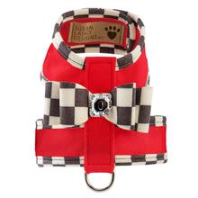 Tinkie Dog Harness with Windsor Big Bow & Trim by Susan Lanci - Red