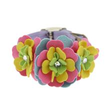 Tinkie Fantasy Flower Dog Collar by Susan Lanci - French Lavender