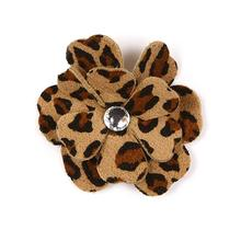 Tinkie's Garden Flower Dog Hair Bow by Susan Lanci - Cheetah