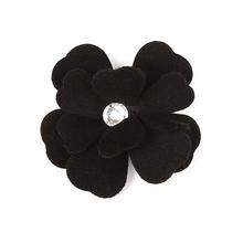 Tinkie's Garden Flower Dog Hair Bow by Susan Lanci - Black