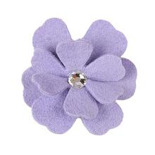 Tinkie's Garden Flower Dog Hair Bow by Susan Lanci - French Lavender