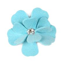 Tinkie's Garden Flower Dog Hair Bow by Susan Lanci - Tiffi Blue