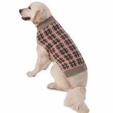 Toby's Plaid Dog Sweater - Taupe