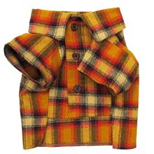 The Traveler Flannel Dog Shirt by Dog Threads