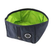 Trek Square Portable Bowl by Puppia Life - Navy