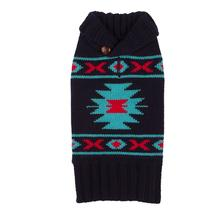 Tribal Dog Sweater by fabdog® - Navy