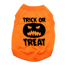 Trick or Treat Halloween Dog Shirt - Orange