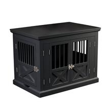 Merry Products Triple Door End Table Dog Crate by Merry Products - Black