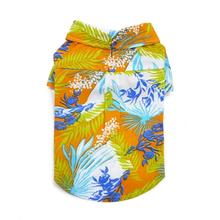 Tropical Island Dog Shirt by Dogo - Orange