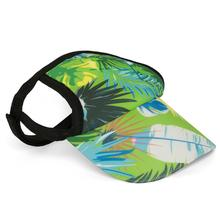 Tropical Treasure Green Dog Visor by Playa Pup
