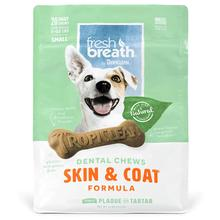 TropiClean Fresh Breath Dental Chews Skin & Coat Dog Treats