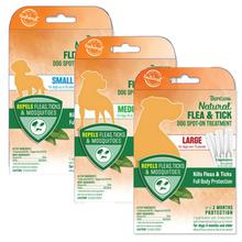 TropiClean Natural Flea & Tick Spot-On Dog Treatment