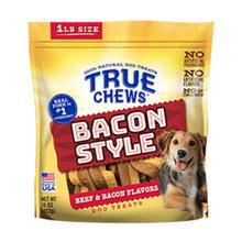 True Chews Bacon Style Dog Treat - Beef & Bacon