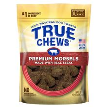 True Chews Premium Morsels Dog Treats - Real Steak