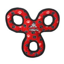 Tuffy Jr 3-Way Tug Dog Toy - Red Paw