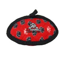 Tuffy Jr Oddball Dog Toy - Red Paw Print